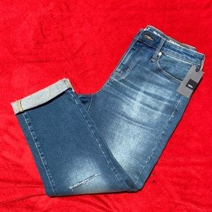 Mossimo Distressed Crop Stretch Jeans. Sz 4